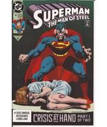 DC Superman The Man Of Steel #16 Crisis At Hand Clark Kent Metropolis Ac... - $1.95
