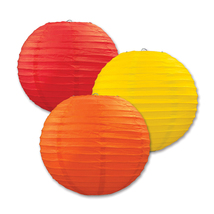 "Beistle Paper Lanterns Golden-Yellow, Orange, Red 9.5"" (3 Count)- Pack of 6 - $47.68"