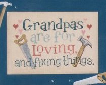 Just for Grandpas grandparents day cross stitch chart Waxing Moon Designs