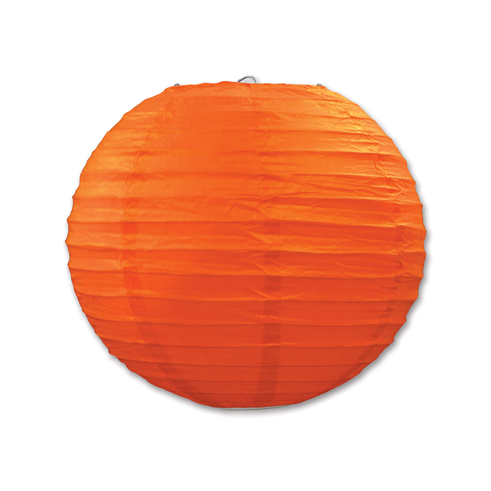 "Beistle Paper Lanterns Orange 9.5"" (3 Count)- Pack of 6"