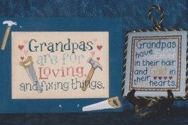 Just for Grandpas grandparents day cross stitch chart Waxing Moon Designs - $8.00