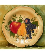 Granada by Home Trends DINNER PLATE large fruit - $37.39