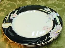Charisma Black Mikasa China Lot 2 Dinner Plates Vg - $37.39