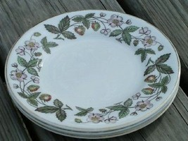 Strawberry Hill by Wedgwood China LOT 3 BREAD PLATES - $25.23