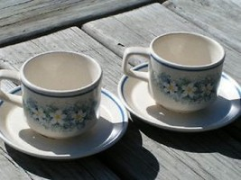Dewdrops by Lenox China Lot 2 Cups + Saucers Temperware - $25.23