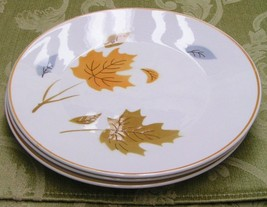 Wind Swept By Mikasa Lot 3 Salad Dessert Plates Leaves - $28.97