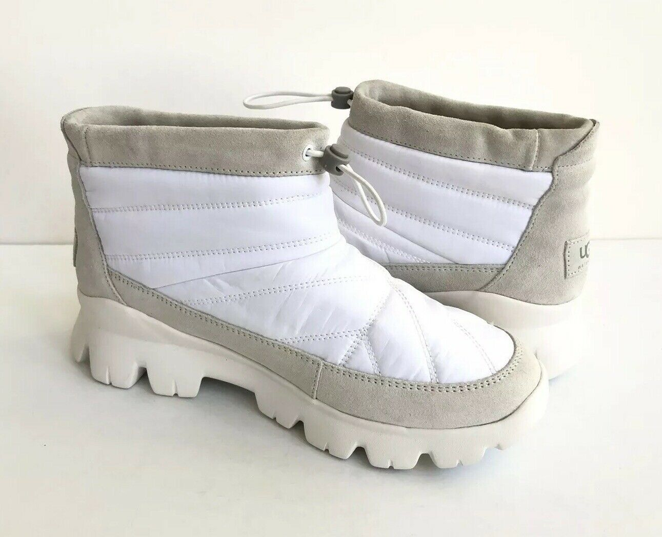 UGG CENTARA WHITE WATERPROOF ANKLE QUILTED SNEAKER SHOE US 7.5 / EU 38.5 /UK 5.5 image 2