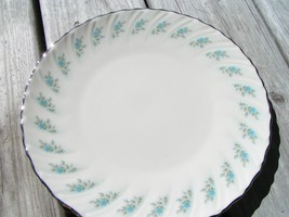 Rosedale by Lenox China SALAD PLATE EC blue roses rare - $32.71