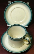 Blue Pacific by Wedgwood LOT 1 CUP + 2 SAUCERS vintage - $37.39
