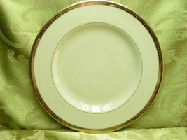 Illusion by Pickard China 1085 DINNER PLATE gold silver rim G25 - $32.71