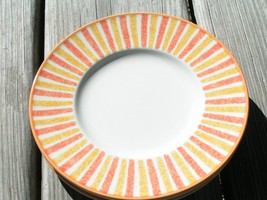 Spring Court Rust By Mikasa Ca004 Lot 3 Bread Plates - $33.65
