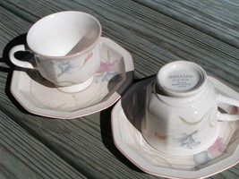 Magic Moods By Mikasa Dq201 Lot 2 Cups + 2 Saucers Pink - $29.91