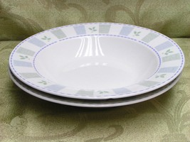 Katrin By Oneida China Lot 2 Rimmed Soup Bowls Leaves C - $33.65