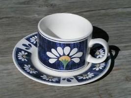 Spring Daisy Oneida Majesticware Lot 2 Cups + 2 Saucers - $29.91