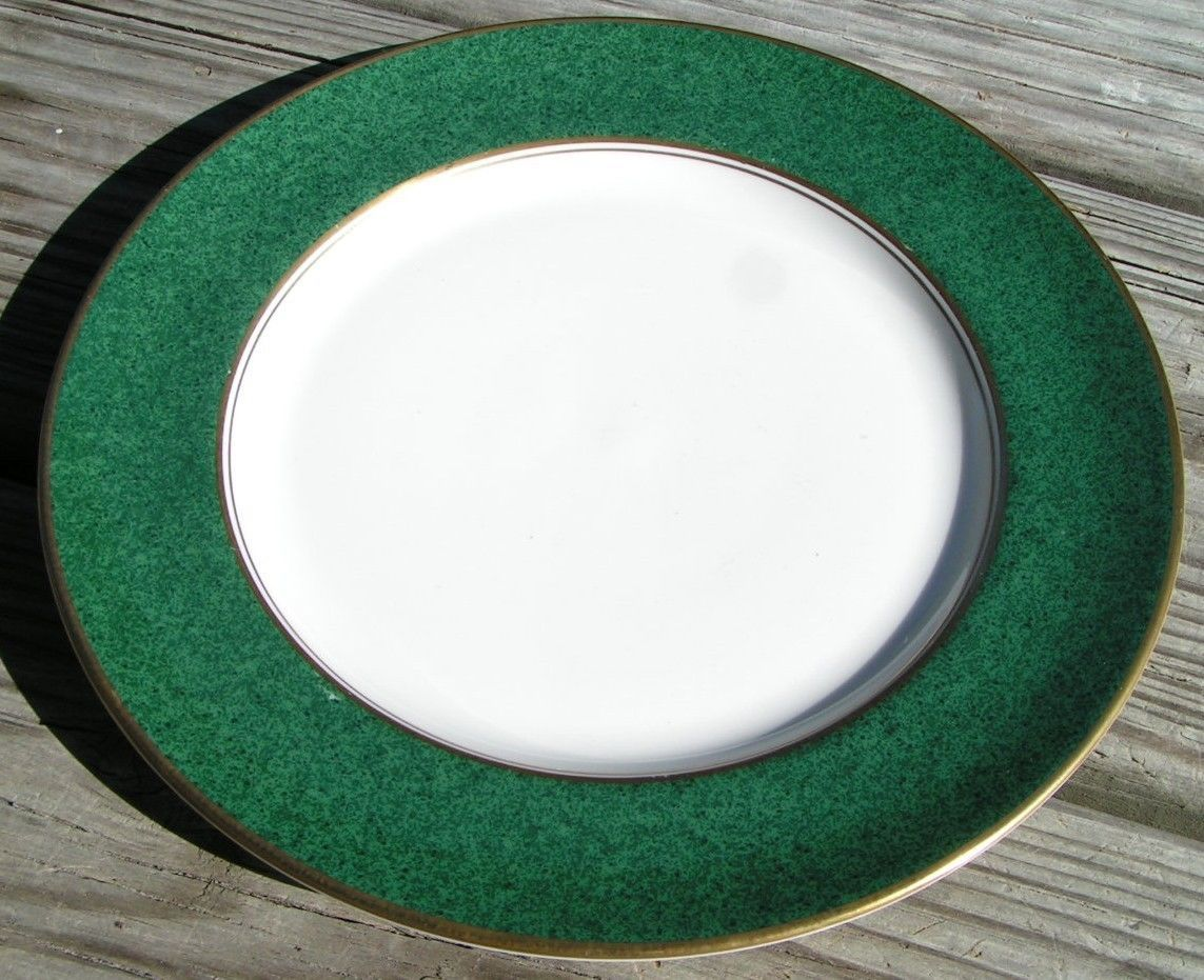 President by Aynsley & Sons SALAD PLATE china green