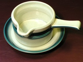 Blue Pacific by Wedgwood GRAVY BOAT + UNDERPLATE rare - $84.14