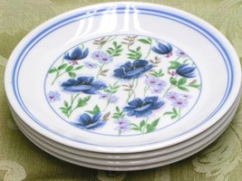 Meadow Song By Royal Albert Lot 4 Bread Plates Blue - $43.93