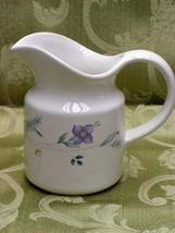 April by Pfaltzgraff 10 Oz CREAMER Stoneware Floral - $29.91