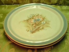 Autumn Day by Noritake 8353 LOT 2 DINNER PLATES Primastone floral stoneware S8 - $41.13