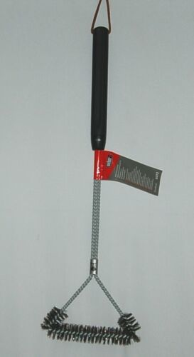 Weber 6493 Three Sided Grill Brush 21 Inches Long Stainless Steel Bristles