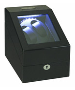 Diplomat Phantom 2 + 3 Watch Winder + Storage LED Lite Black Finish Lock... - $138.59