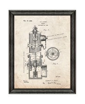 Fire Hydrant Patent Print Old Look with Black Wood Frame - $24.95+