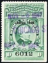 RD230, $500 XF Centering Stock Transfer Revenue Stamp Cat $350.00 - Stua... - $325.00