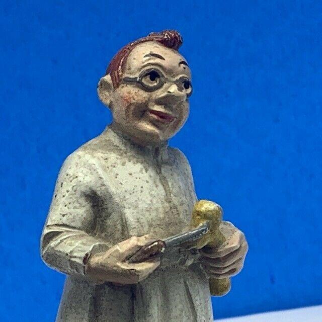 Wood carved folk art black forest bone saw doctor figurine sculpture Germany vtg
