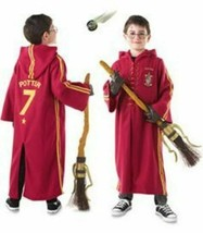 Harry Potter Costume QUIDDITCH DELUXE ROBE Velvety Red sz S Halloween Co... - $29.70
