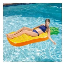 """Pineapple Inflatable Lounge Summer Waves 72"""" x 30.5"""" x 8.5"""" - New - $29.39"""