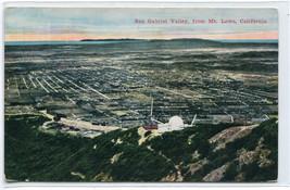 Panorama San Gabriel Valley From Mt Lowe California 1910c postcard - $6.88