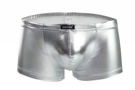 Men's sexy underwar metallics Silver boxer briefs underpants panties #VS... - $15.00