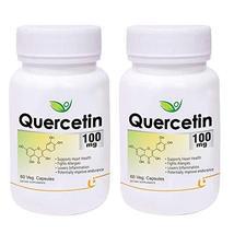 Krishna Biotrex Nutraceuticals Quercetin, 100 mg, 60 Veg Capsules - Pack... - $59.89