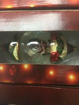 Kirkland Signature Waterglobe Ornaments Lot of 3 Christmas Tree Santa Drummer image 3