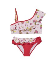 Juicy Couture Childrens Pink Fruit Two Piece Swimsuit Size 14 New - $9.89