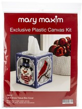 "Mary Maxim Plastic Canvas Tissue Box Kit 5""-Let It Snow (7 Count) - $25.38"