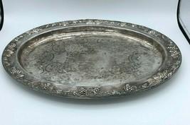 Gorham Silver Plate Platter Serving Tray Vintage  Antique Newport - $14.80