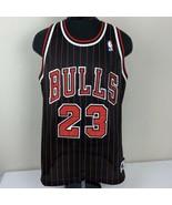 Vintage Authentic Michael Jordan Chicago Bulls Champion Jersey Pinstripe... - $239.99