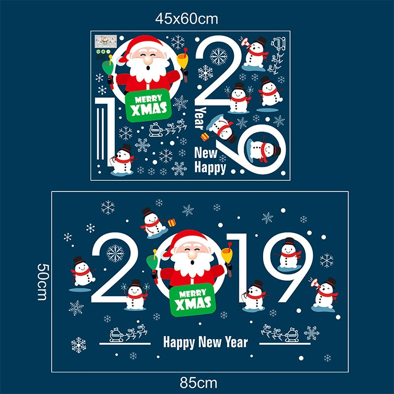 Hot new Decan 45*60cm 2019 Merry Christmas Decorations for Home Santa Claus