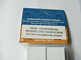 Jacksonville Terminal Company # 535009 CSX 53' Intermodal Container N-Scale image 2