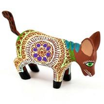 Handmade Alebrijes Oaxacan Wood Carved Painted Folk Art Donkey Burro Figurine