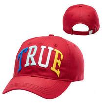 True Religion Men's Embroidered 3D Rainbow Cap Sport Strapback Baseball Hat