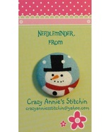 Black Top Hat Snowman Needleminder fabric cross stitch needle accessory - $7.00