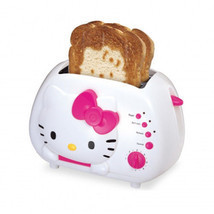 Hello Kitty 2-Slice Wide Slot Toaster with Cool Touch Exterior - $60.59 CAD