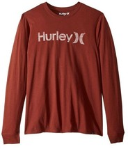 Hurley Men's One & Only Push Thru Graphic Tee Shirt Small S Brown Red Co... - $16.95