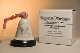Precious Moments: Wishing You A Yummy Christmas -  Miniature Bell & Stand - $14.44