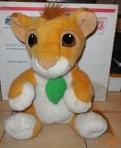 Vintage 1993 Disney Mattel Lion King Talking Baby Simba Plush Stuffed An... - $24.75
