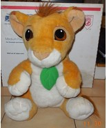 Vintage 1993 Disney Mattel Lion King Talking Baby Simba Plush Stuffed An... - $24.75