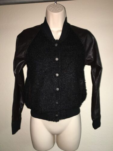 Express Jacket Cardigan Black Multi Color XS Snap Front Womens NWOT