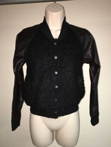Express Jacket Cardigan Black Multi Color XS Snap Front Womens NWOT - $14.62